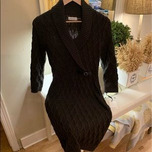 Calvin Klein Black Cable knit sweater dress! NWT S